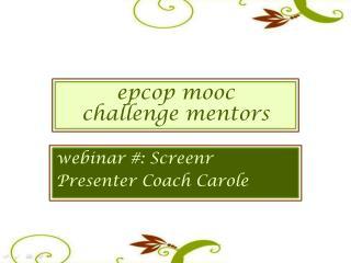epc op  mooc challenge  m entors