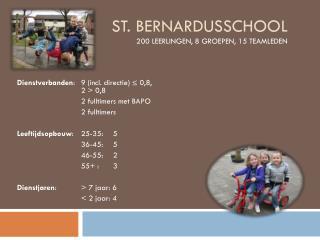 St.  Bernardusschool 200 leerlingen, 8 groepen, 15 teamleden