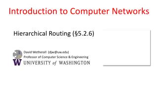 Hierarchical Routing (§5.2.6)