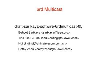 6rd Multicast