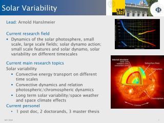 Solar  Variability