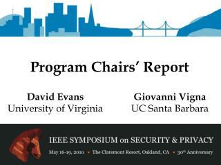 Program Chairs' Report