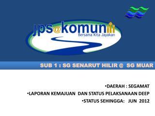 SUB 1 : SG SENARUT HILIR @  SG MUAR
