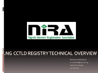 . ng   cctld  registry Technical  overview