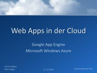 Web  Apps  in der Cloud