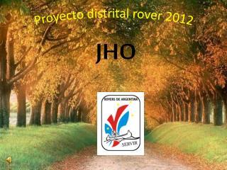 Proyecto distrital  rover  2012