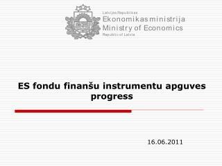 ES fondu finanšu instrumentu apguves progress