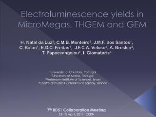 Electroluminescence yields in  MicroMegas , THGEM and GEM