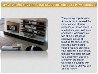 Space Optimisation through Wall Beds and Built-in Wardrobes