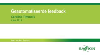Geautomatiseerde feedback