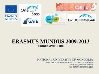 ERASMUS MUNDUS 2009-2013 PROGRAMME GUIDE