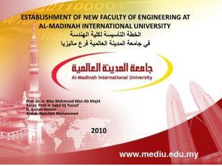 Prof. Dr. Ir. Wan Mahmood Wan Ab Majid  Assoc  Prof. Ir.  Sabri Hj Yussof Ir.  Azman Kassim