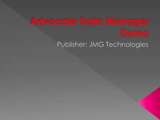 Advocate Data Manager Demo