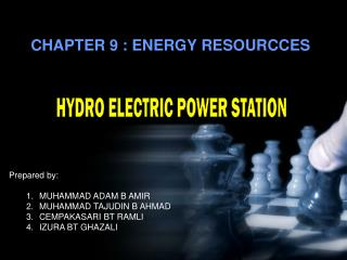 CHAPTER 9 : ENERGY RESOURCCES