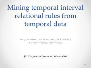 Mining temporal interval relational rules from temporal data
