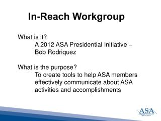 In-Reach  Workgroup