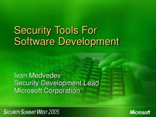 Security Tools For Software Development