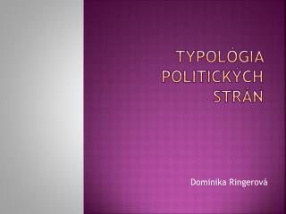 Typológia politických strán