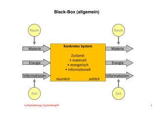 Black-Box ( allgemein)
