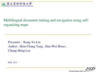 Multilingual document mining and navigation using self-organizing maps