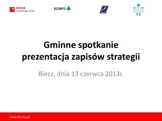 Gminne spotkanie prezentacja  zapisów strategii
