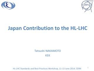 Japan Contribution to the HL-LHC