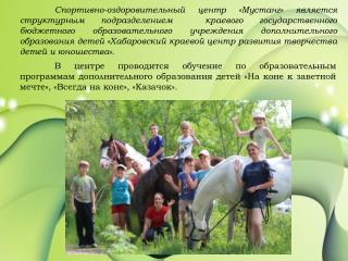 prezentatsiya programm dopolnitelnogo obrazovaniya sots mustang