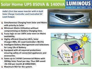 Solar Home UPS 850VA & 1400VA