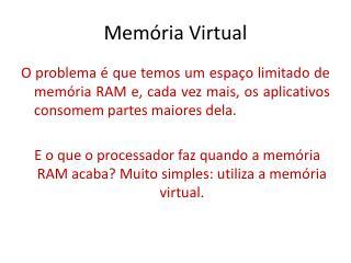 Mem�ria Virtual