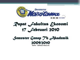 Rapat Fakultas Ekonomi 17  Februari  2010