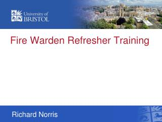 Fire Warden Refresher Training