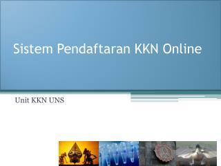 Sistem Pendaftaran KKN Online