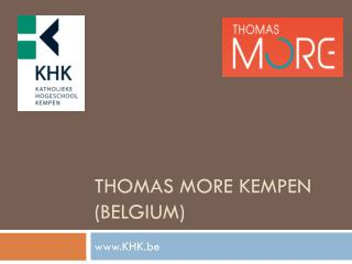Thomas More Kempen ( Belgium )
