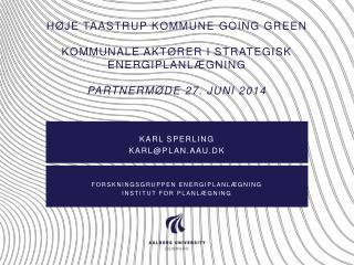 Karl sperling karl@plan.aau.dk