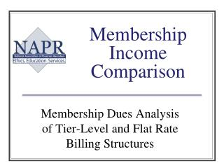Membership Income Comparison