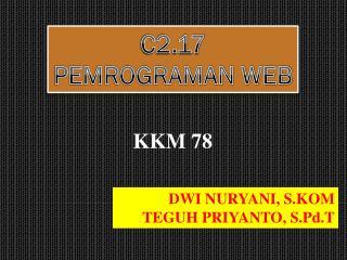 C2.17 PEMROGRAMAN WEB