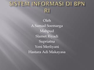 Sistem Informasi di BPN RI