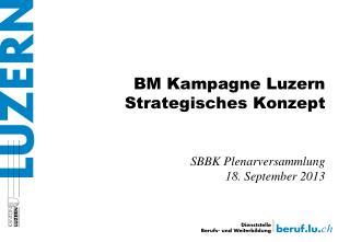 BM Kampagne Luzern Strategisches Konzept