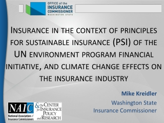 Enterprise Risk Management for PC Insurance Companies