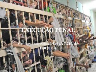 EXECU  O PENAL