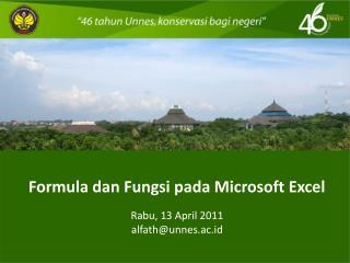 Formula dan Fungsi pada Microsoft Excel