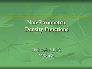 Non-Parametric Density Functions