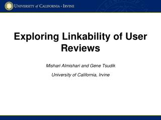 Exploring  Linkability of User Reviews