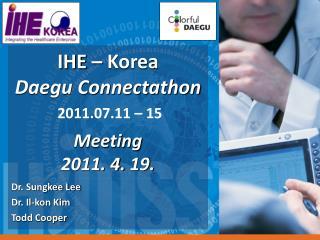 Dr. Sungkee Lee Dr. Il-kon Kim Todd Cooper