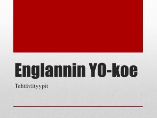 Englannin  YO-koe