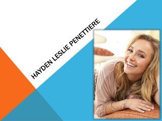Hayden Leslie  Penettiere