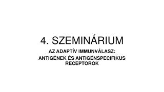 4. SZEMINÁRIUM