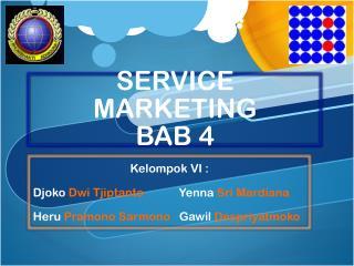 SERVICE MARKETING BAB 4