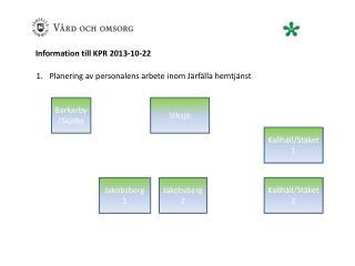 Information till  KPR  2013-10-22