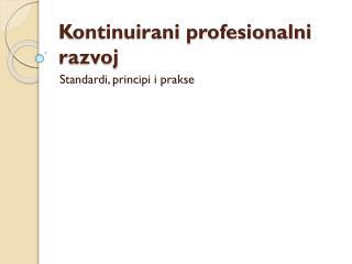 Kontinuirani profesionalni razvoj